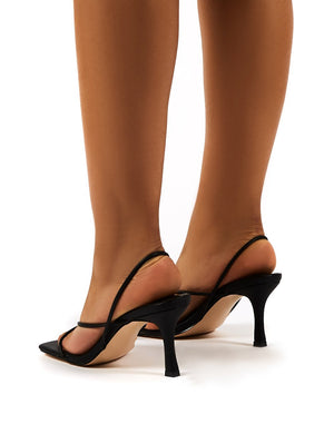 Annika Black Wide Fit Strappy Heels