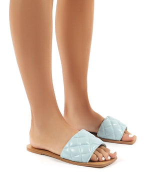 Cloud Blue Slider Sandal