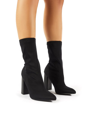 Libby Flared Heel Sock Fit Ankle Boots