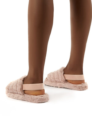 Dreamtime Baby Pink Fluffy Strap Back Slippers