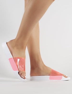 Kina Perspex Sliders in Neon Pink