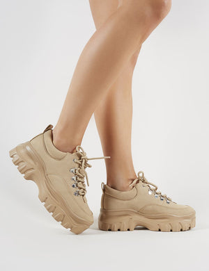 Vouch Chunky Trainers in Sand