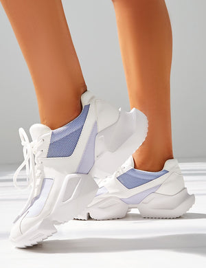 LISSY RODDY x PD Casj White and Lilac Chunky Trainers