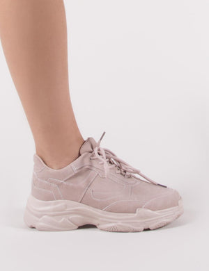 Blend Chunky Trainers in Pink