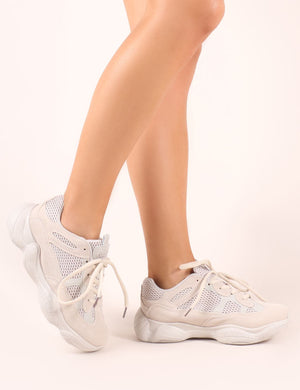 Kaidee Chunky Trainers in Sand | Public
