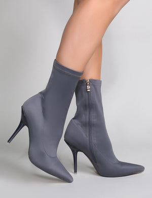 Serious Sock Boots in Grey