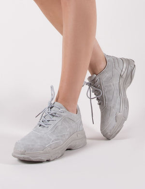 Blend Chunky Trainer in Grey