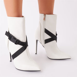 Obsessin' Sports Ankle Boots in White