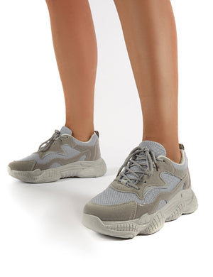 Sprint Grey Chunky Sole Trainers
