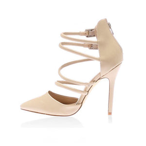 Kimberley Strappy Heels in Nude PU
