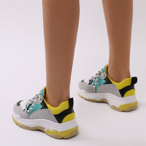 Switch Chunky Trainers Green