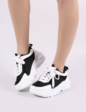 Bills Chunky Trainers in Black and White