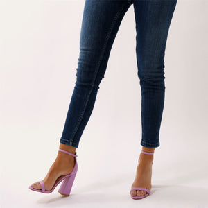 Tess Block Heels in Lilac