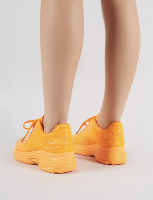 Dash Chunky Trainers in Neon Orange