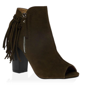 Amira Ankle Boots in Khaki