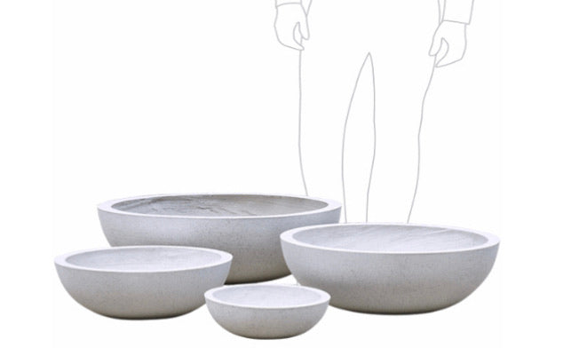 Shallow bowl planters