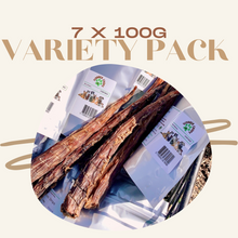 Load image into Gallery viewer, 7 x 100g - VARIETY DOG TREATS PACK
