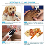 Electric Pet Nail Grinder Trimmer