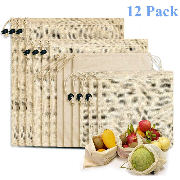 Reusable Bags 100% Cotton Vegetable