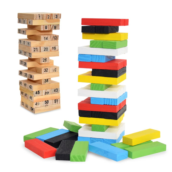 Wooden Digital Jenga Building