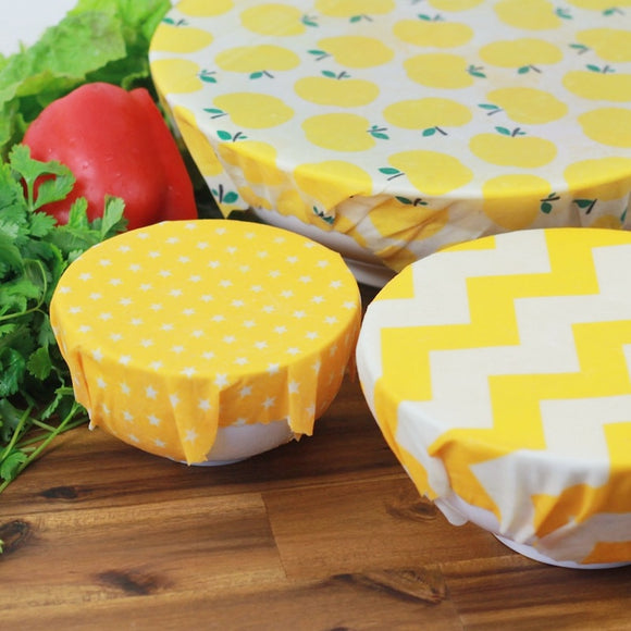 Reusable Beeswax Food Wraps Washable