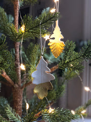 gold dipped ceramic leaf decorations