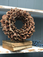 20% off: rustic cone wreath