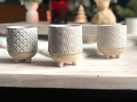 Trio of mini planters