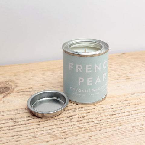 French pear tin candle