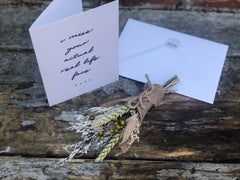 Card & dried flower gift