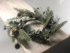 Rustic dark berry wreath