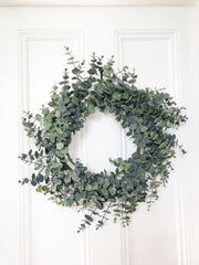 Magnificent faux eucalyptus wreath