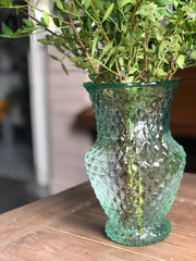 Green diamond vase