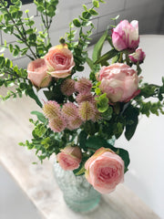 Hand tied pink bouquet