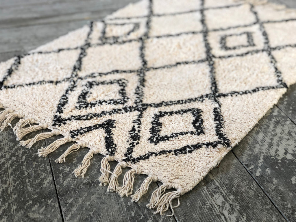 Berber style tufted rug