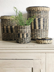 20% off: Set of 3 seagrass storage baskets with lids