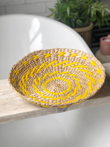 Seagrass bowl - yellow