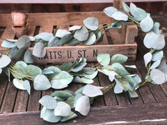 Light green eucalyptus garland