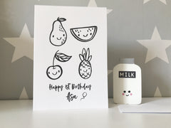 Monochrome children's card - huge variety of designs - fully personalised