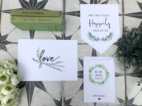 Botanical wedding trio