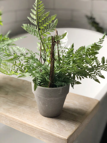 Faux fern in pot - small