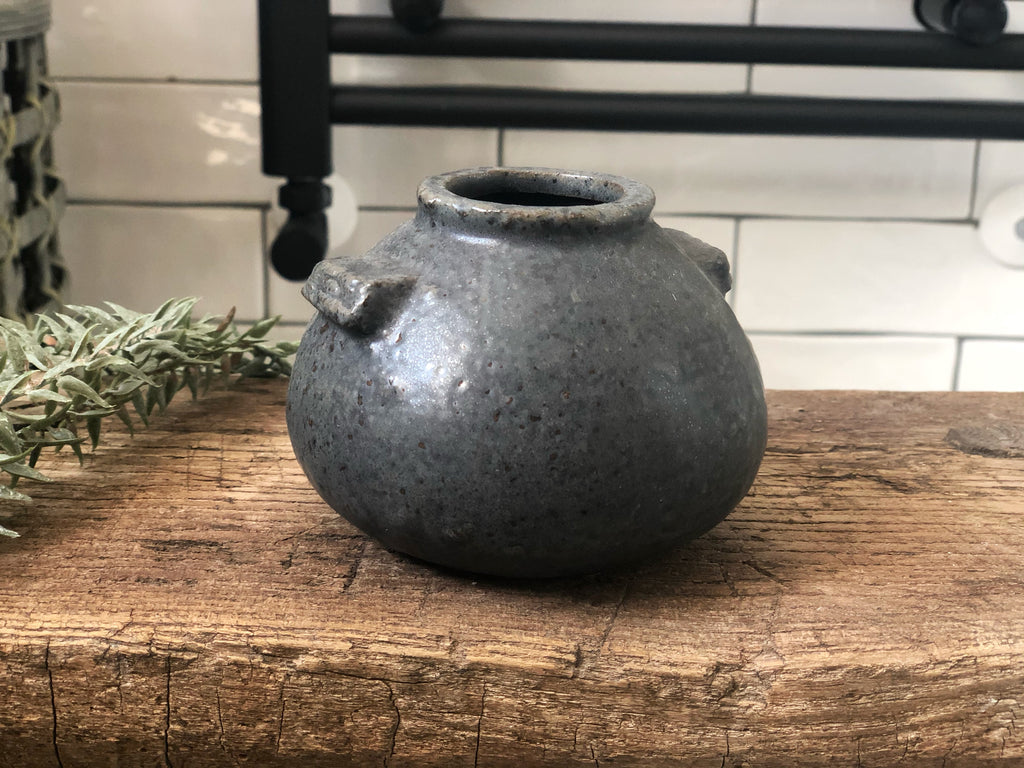 Black iron bud vase