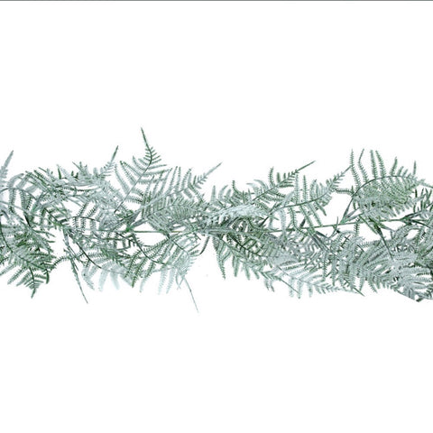 Frosted 2 tone full leaf garland