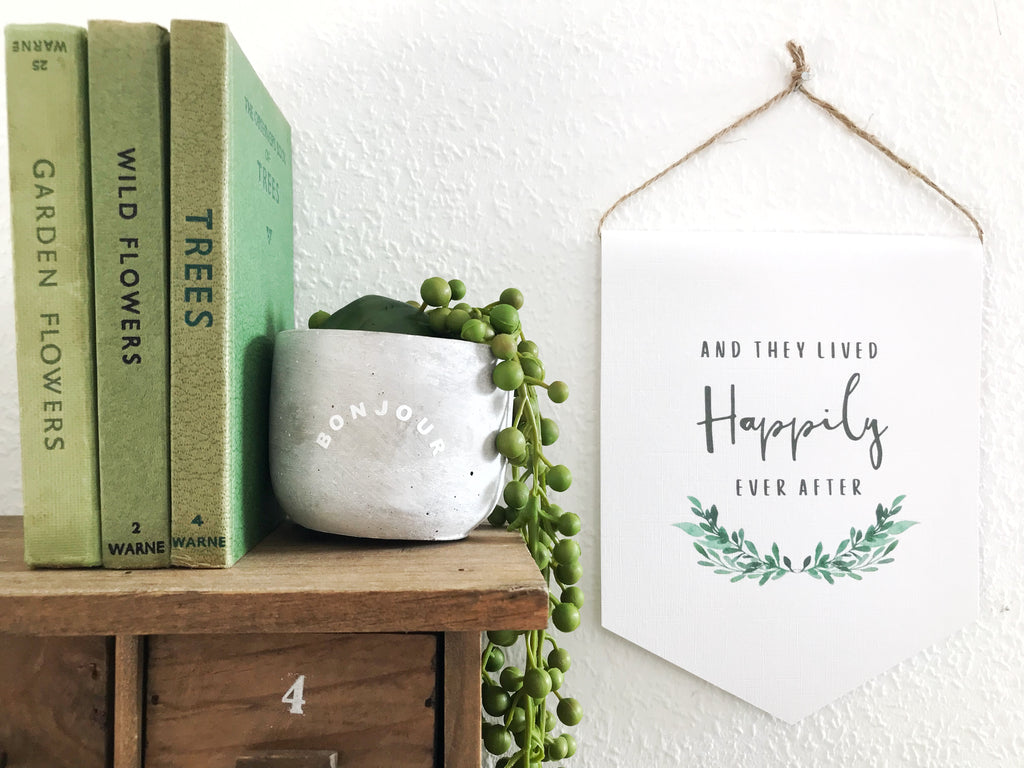 Happily ever after - Print Banner