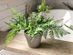 Faux fern in pot - large