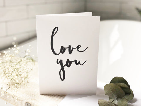 Love you A5 print card