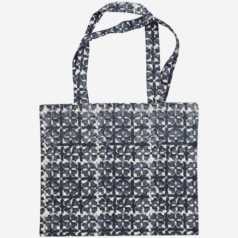 SALE Printed tote bag - blue stone