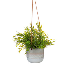 Glazed hanging planter