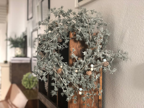 Winter Wonderland 18 inch rustic wreath