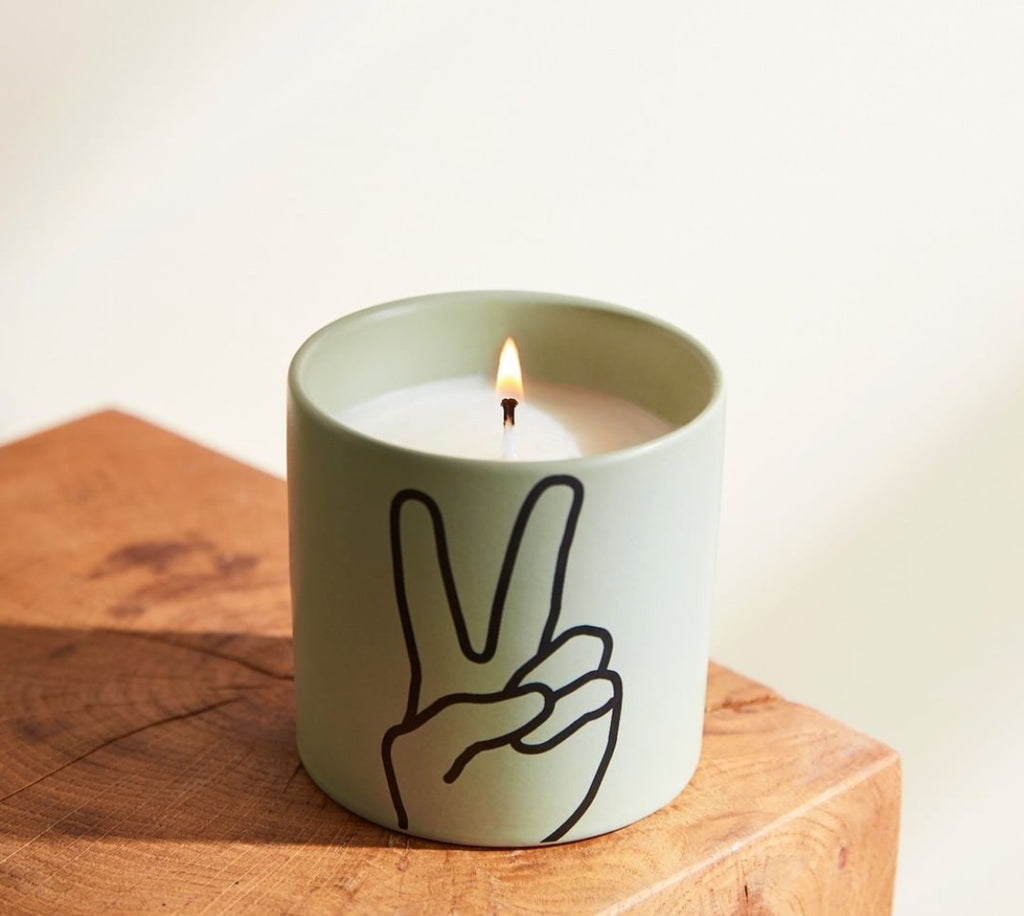 Peace : scented candle - lavender & thyme